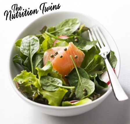 Boost Your Nutrients With This Salmon Spinach Salad Nutrition Twins