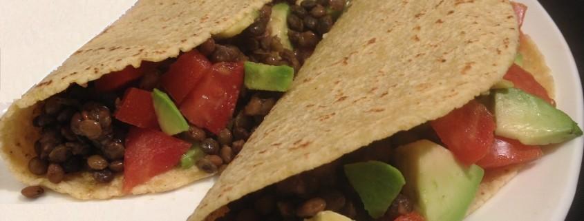 Avocado & Lentil Vegan Tacos
