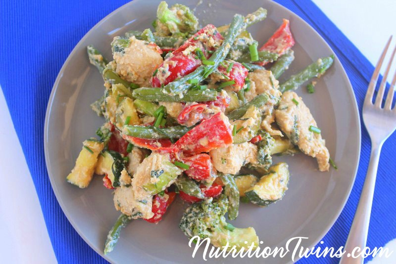 Veggie Packed Chicken and Egg Stir Fry | Nutrition Twins
