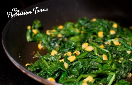 How many calories in 1 cup of sauteed spinach