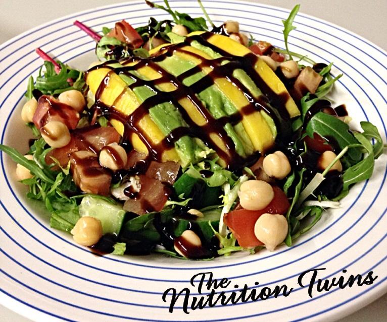 Arugula Avocado Mango Salad Nutrition Twins