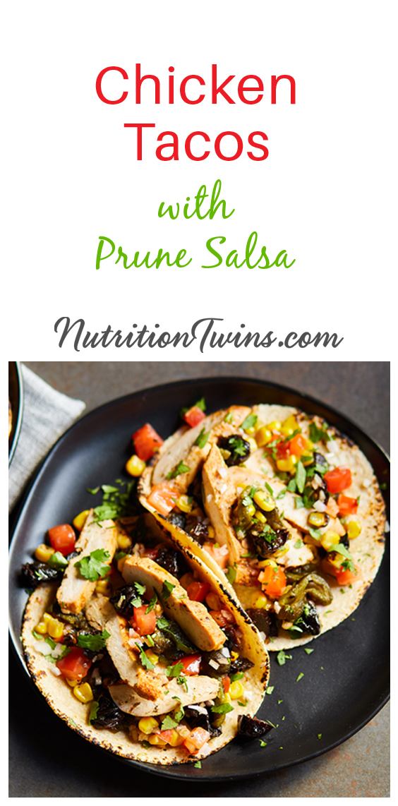 Chicken Tacos with California Prune Salsa | The Nutrition Twins