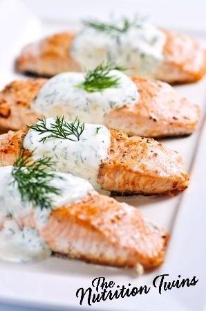 Lemon Dill Salmon | Nutrition Twins