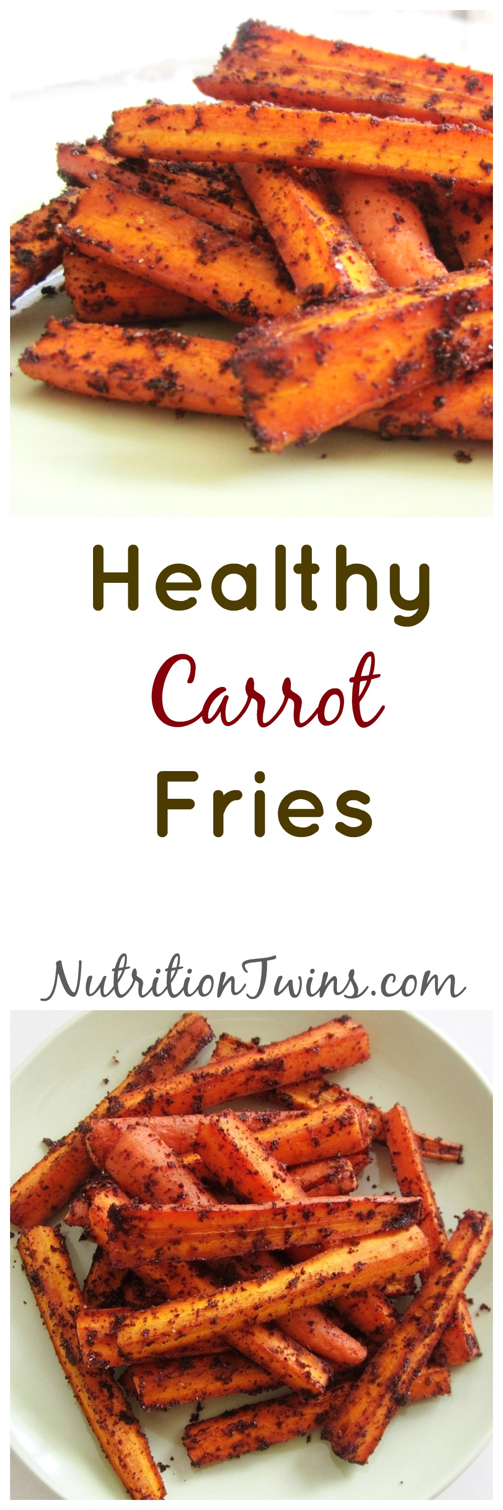 Healthy Carrot Fries Collage