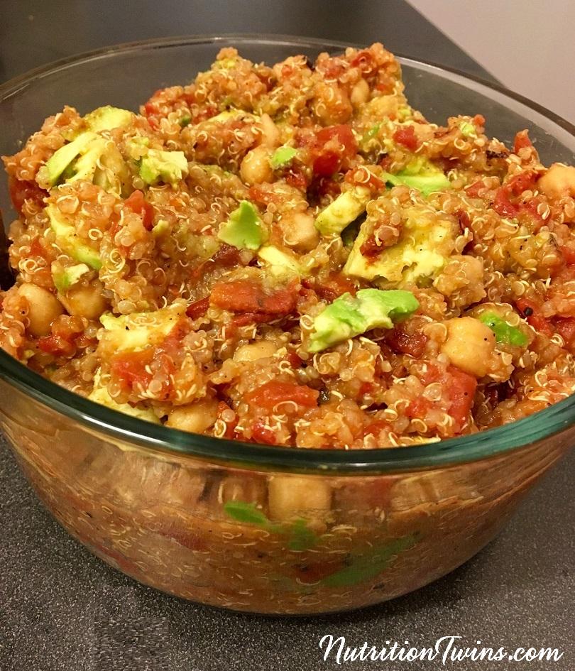 One Pot Quinoa Chickpea & avo bowl3crop
