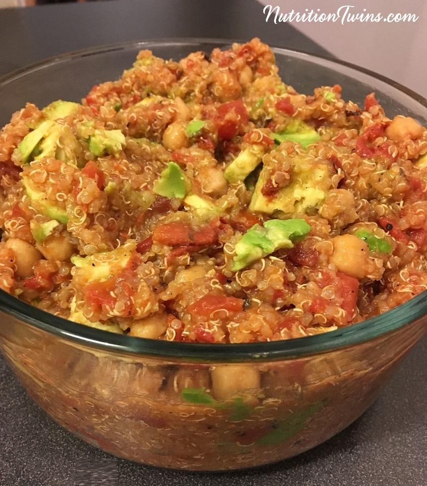 One Pot Quinoa Chickpea & avo bowlcrop