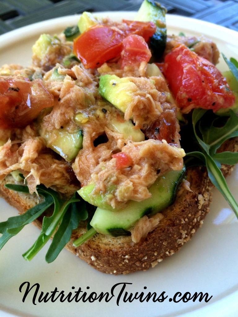 Open Faced Veggie & Tuna Sandwich pic
