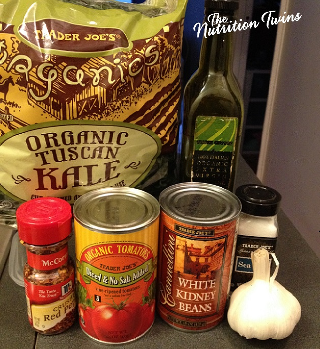 Quick_White_Bean_Stew_Ingredients_With_Kale&_Tomatoes