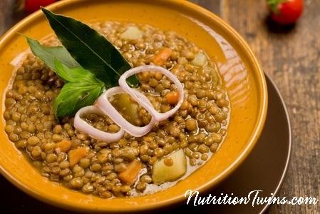 Green Lentil Soup | Nutrition Twins