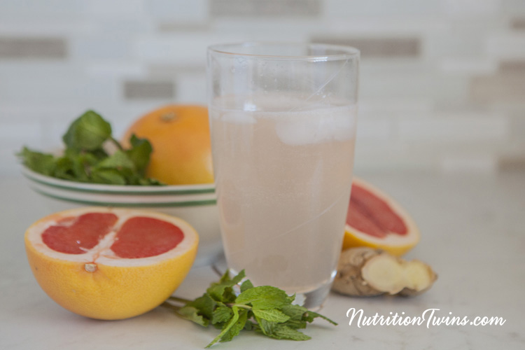 Grapefruit Ginger Mint Soda--DIY- Make-Your-Own Natural Soda