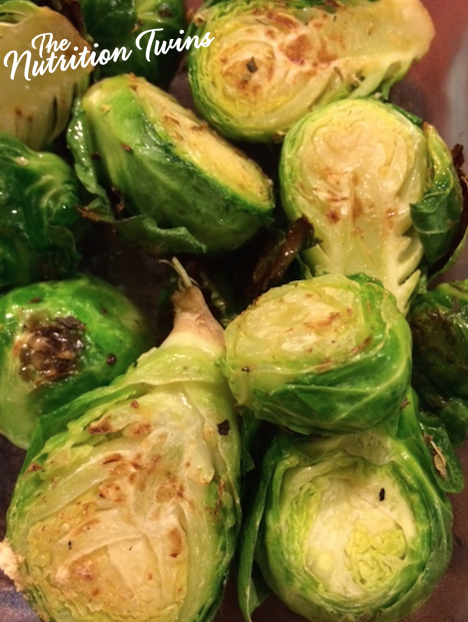 seasoned brussels sprouts with logo