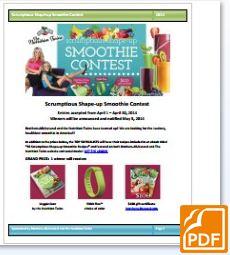 smoothie contest pdf