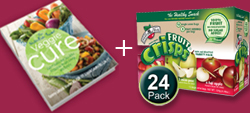 veggie cure and 24-pack of fruit crisps